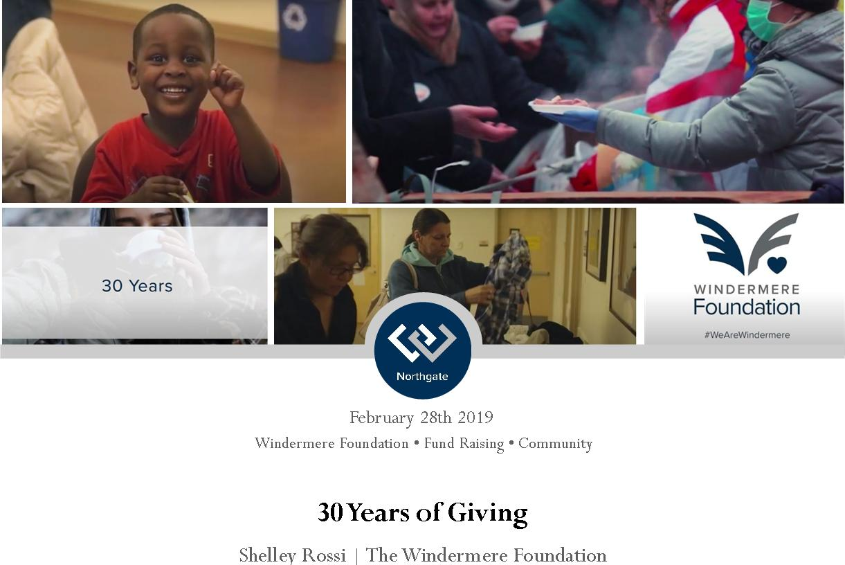 30 years of Giving with the Windermere Foundation