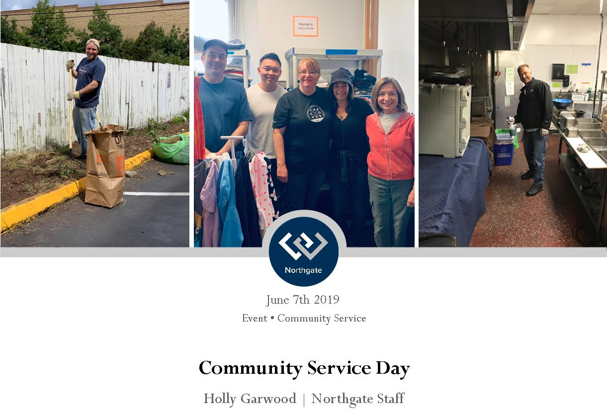 Northgate office community Service day at marys place