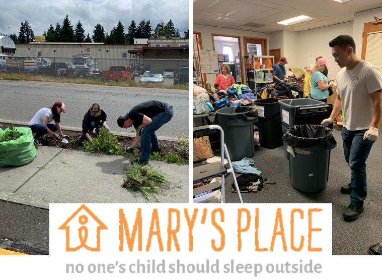 Northgate office Volunteering at Marys Place