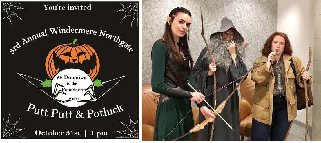 Northgate Putt Putt 2018 Poster & staff hobbit costume