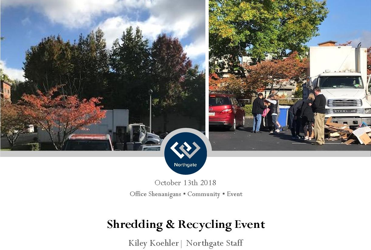 Shredding & Recycling Event Header