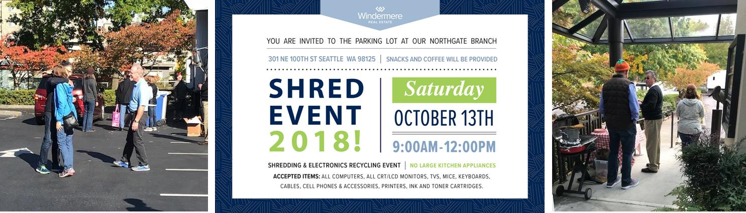 Northgate Shred & recycle event images