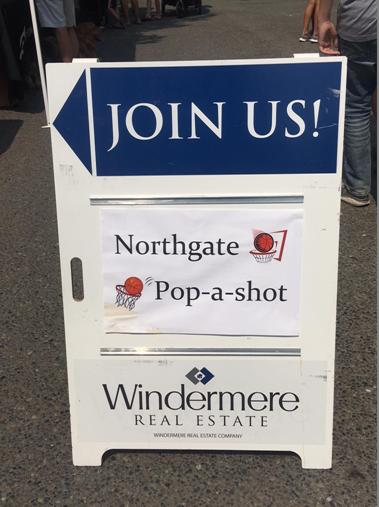Pop a shot sign at Summer Splash