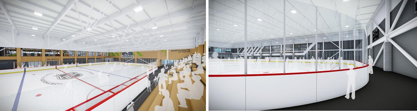 Renderings of future Hockey rink at Northgate